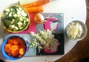 Coupe des légumes