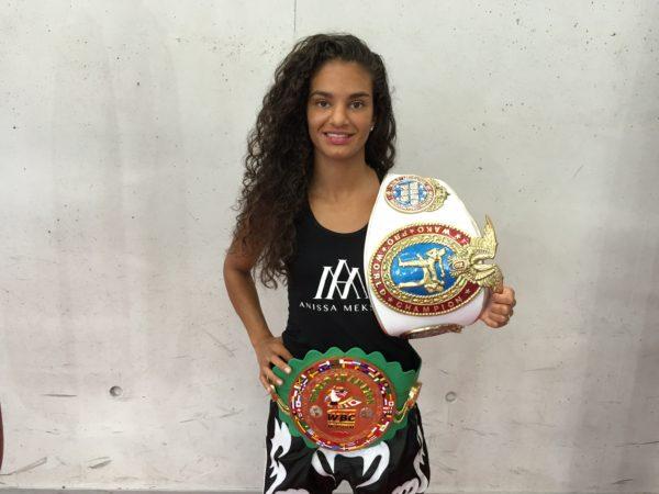 anissa meksen trophées et ceintures WBC