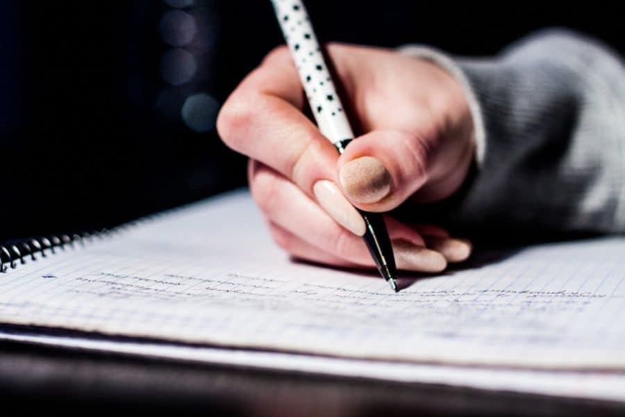 écrire objectif